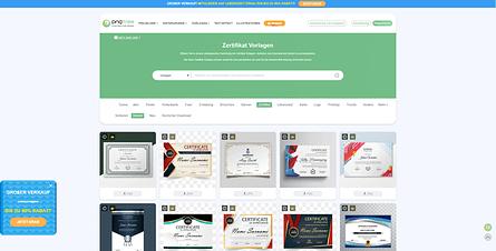 Zertifikat Vorlage Landing Page