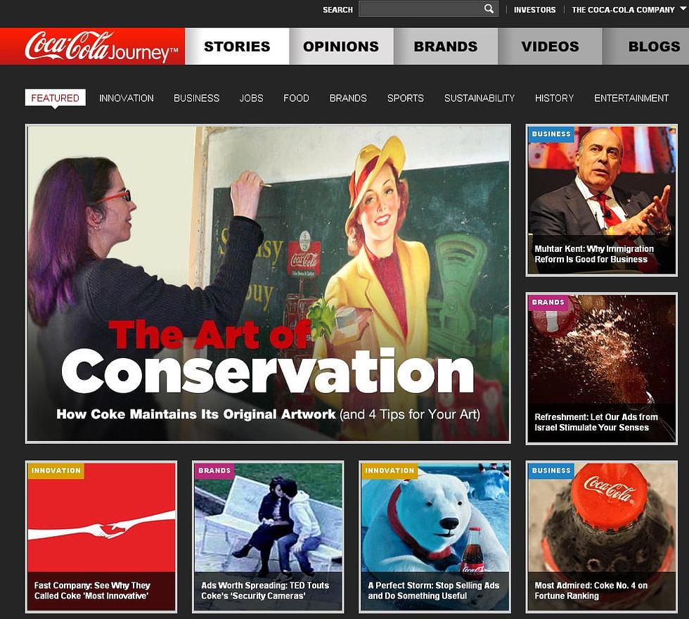 Coca Cola Company - der neue Content Marketing Umsetzung
