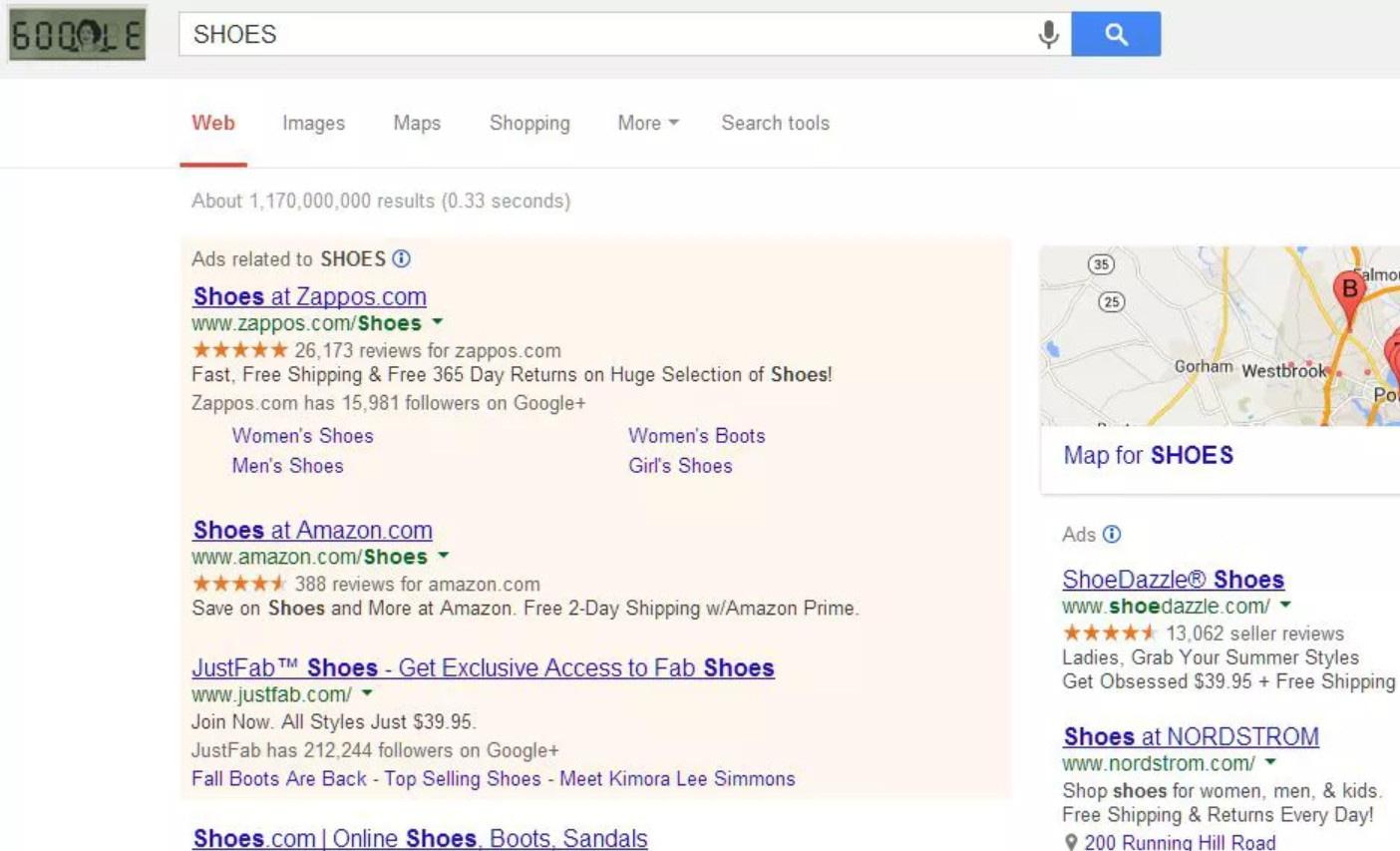 Google SERPS 2013