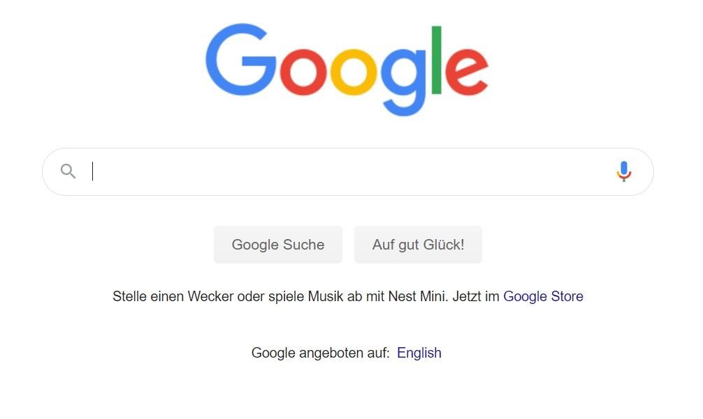 CTA der Google Suche